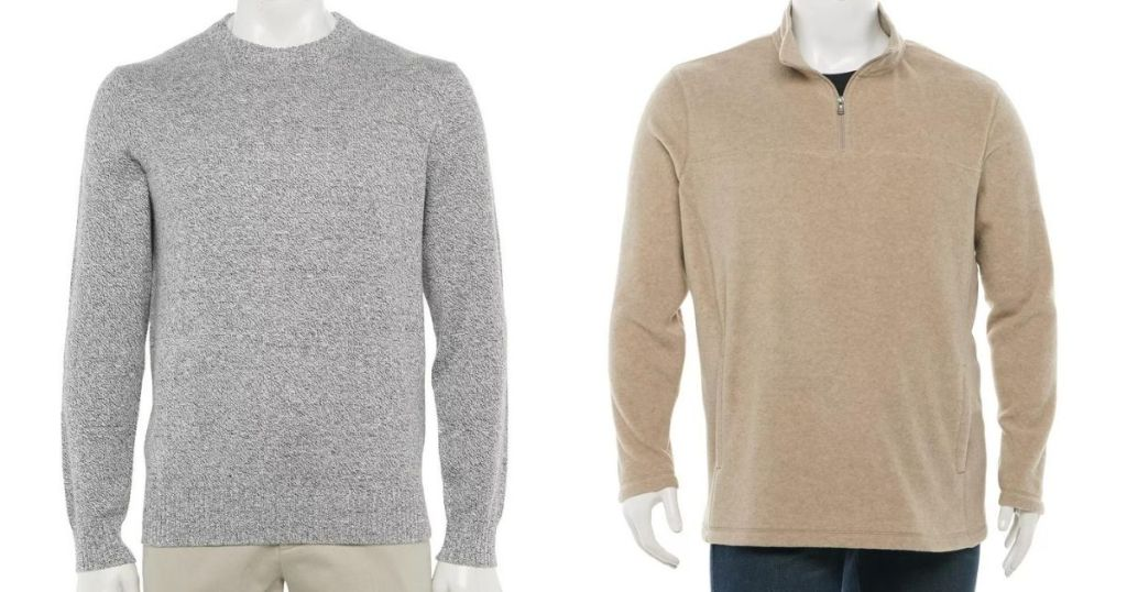 two men's sweaters