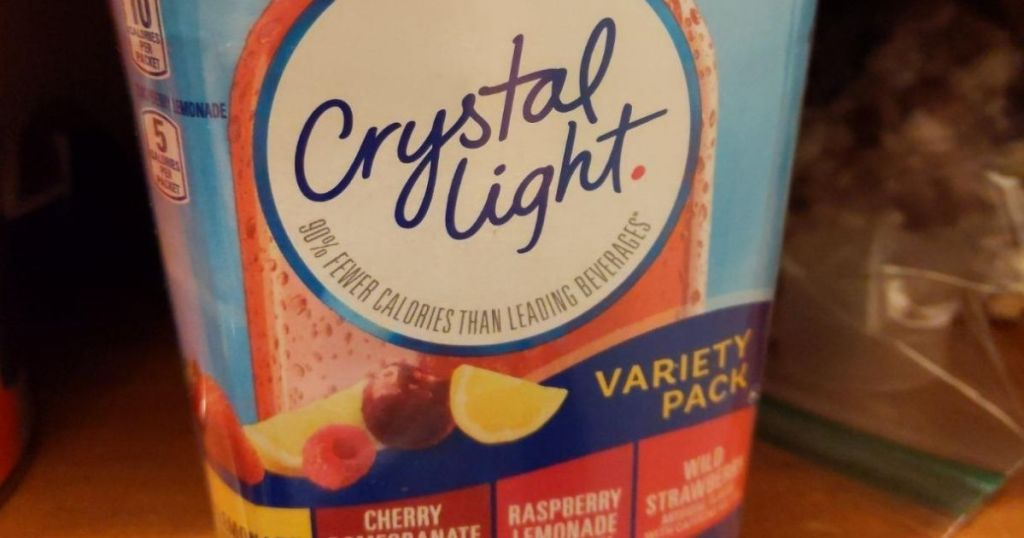 Crystal Light Variety Pack container