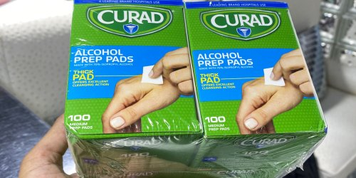 Curad Alcohol Prep Pads 400-Count Only $4.49 on Amazon (Regularly $9)