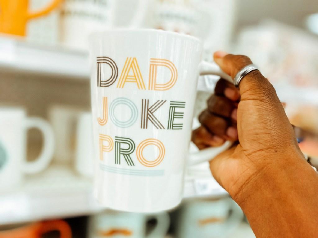Dad joke pro mug in hand