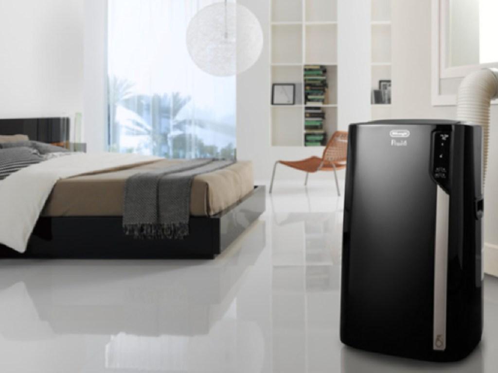 black portable air conditioner