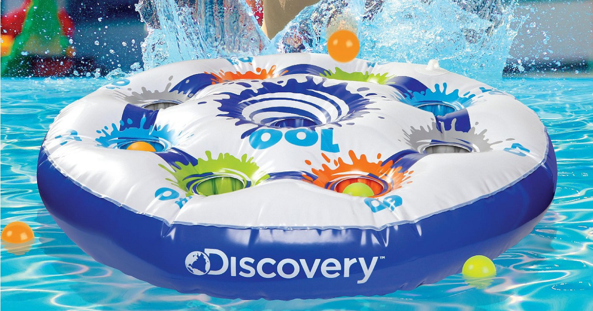 Discovery Kids Toy Inflatable Target in pool