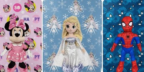 Disney & Marvel Character Pillow + Fleece Blanket Sets Only $7 on Amazon