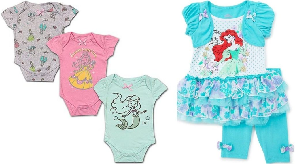 Disney Princess Outfit and Baby Bodysuits