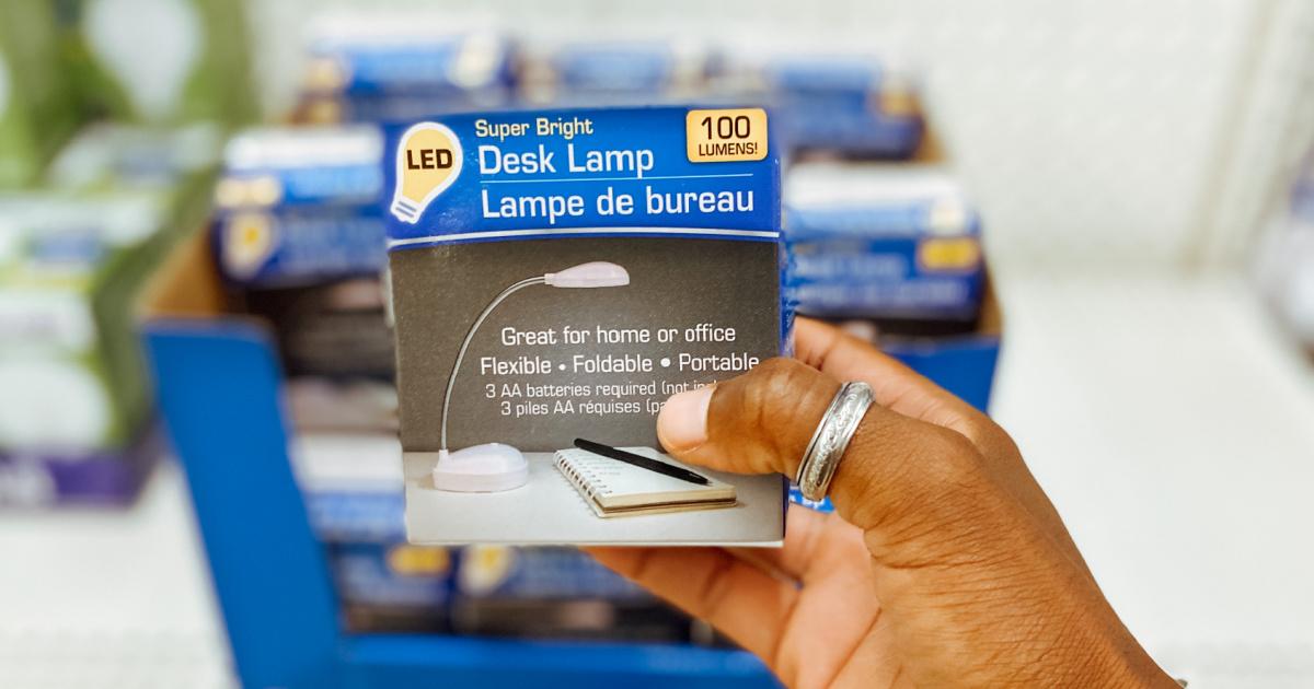 LED desk lamp in packaging