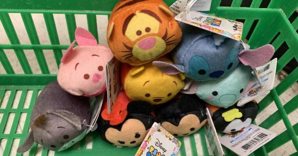 Disney Tsum Tsum toys in a basket