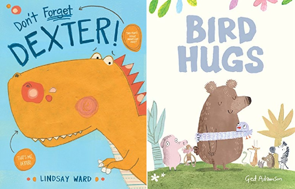 Don't Forget Dexter and Bird Hugs Books