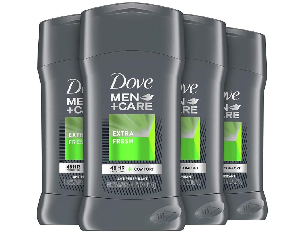 four sticks of men's deodorant