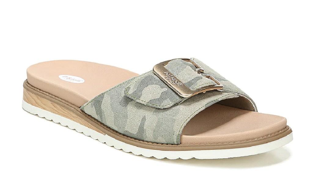 camo strappy sandals