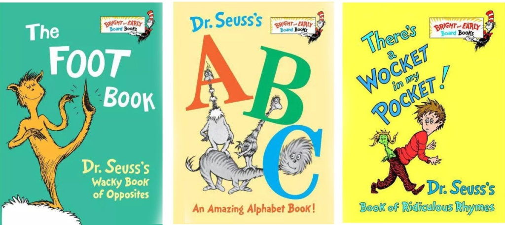 Three Dr Seuss Board Books