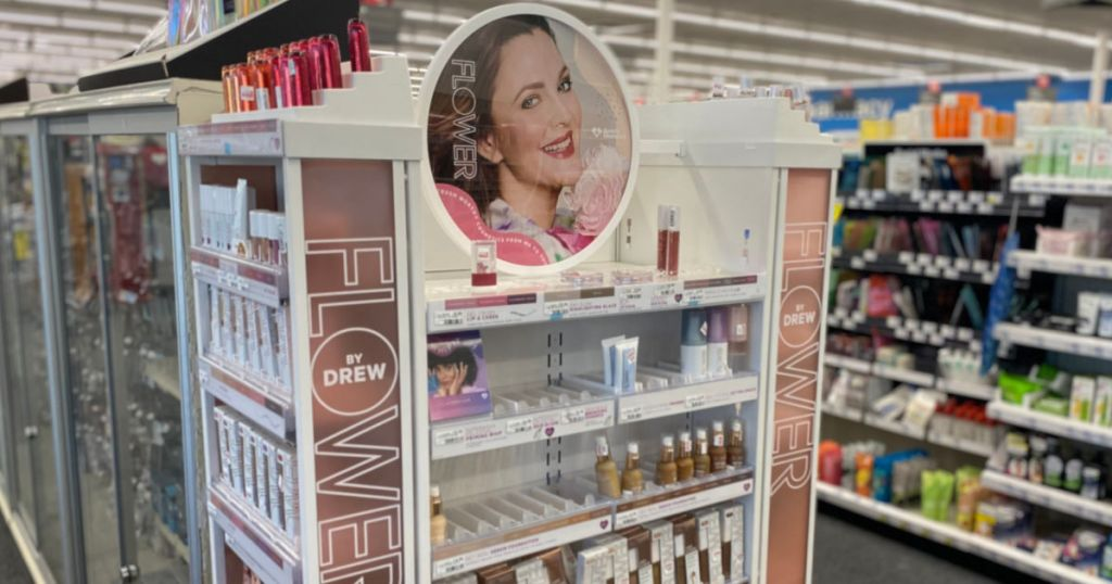 cosmetic display at store
