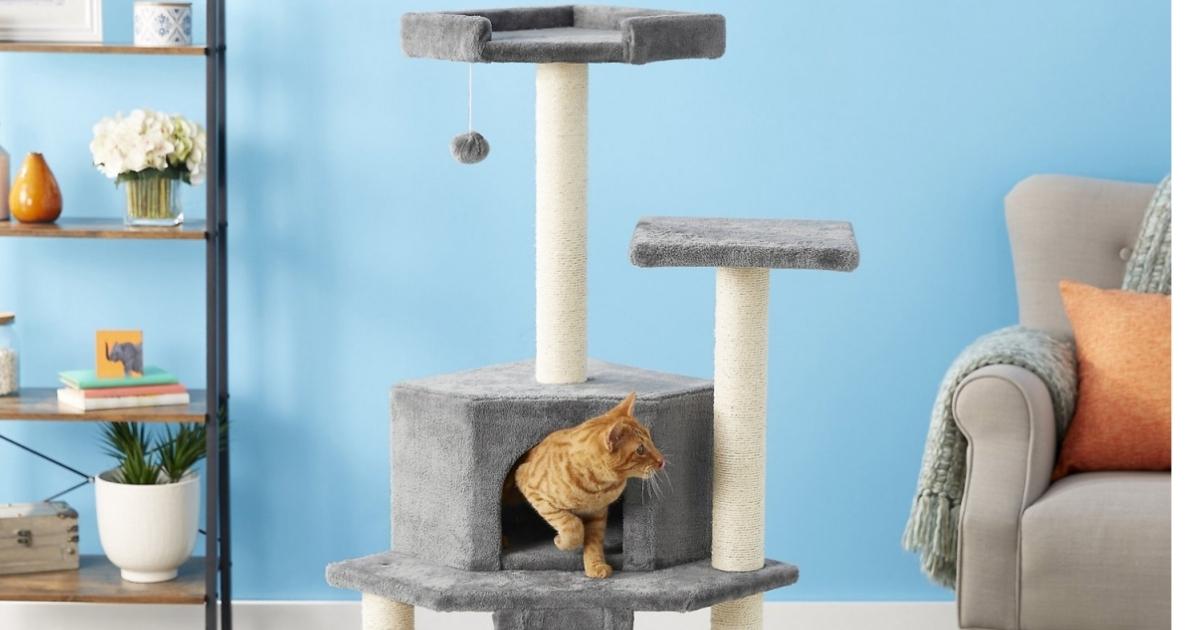 Frisco 68-in Faux Fur Cat Tree & Condo