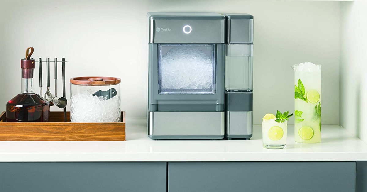 large ice maker on counter