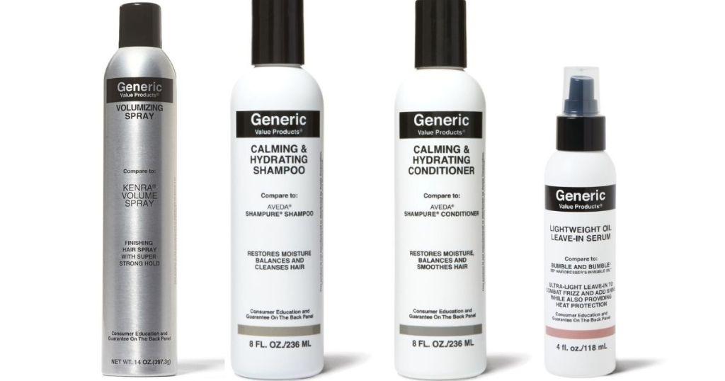 four GVP Hair Products