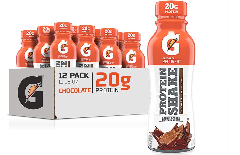 Gatorade Recover protein shakes