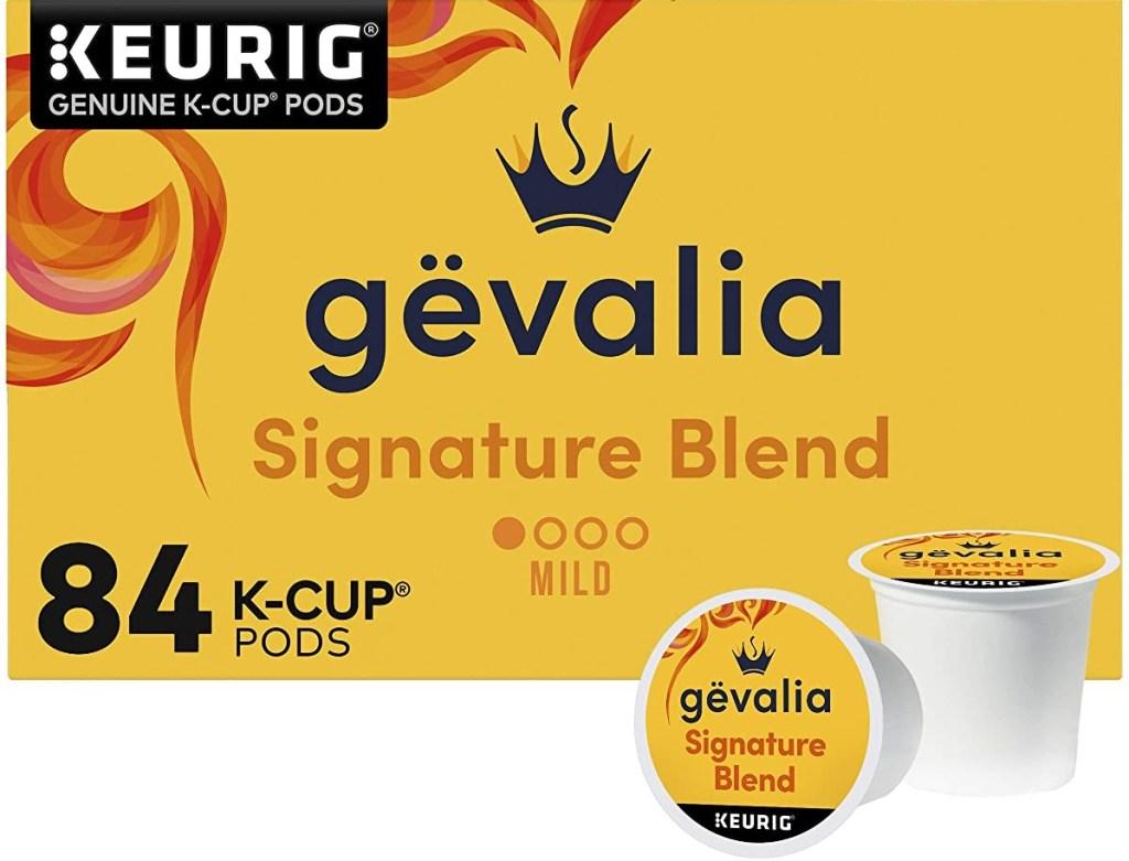 Gevalia Signature Blend coffee k-cup box