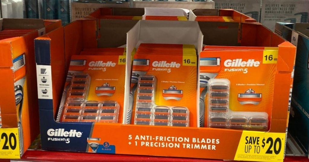 box full of GilletteFusion5 16-pack razors