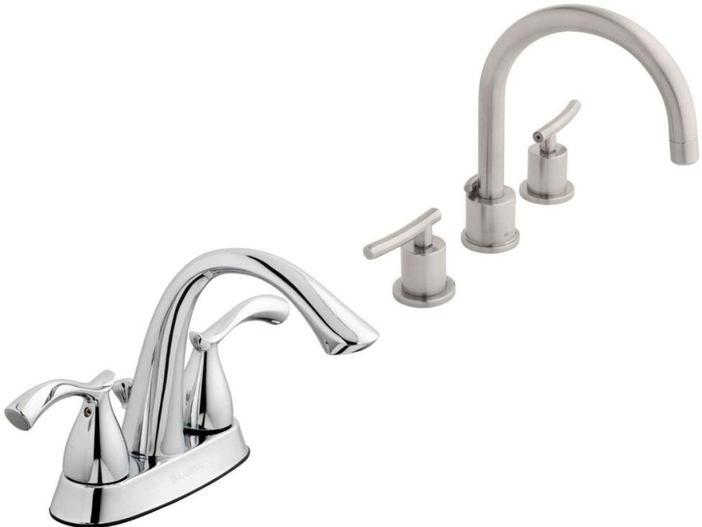 two Glacier Bay Bathroom Faucets