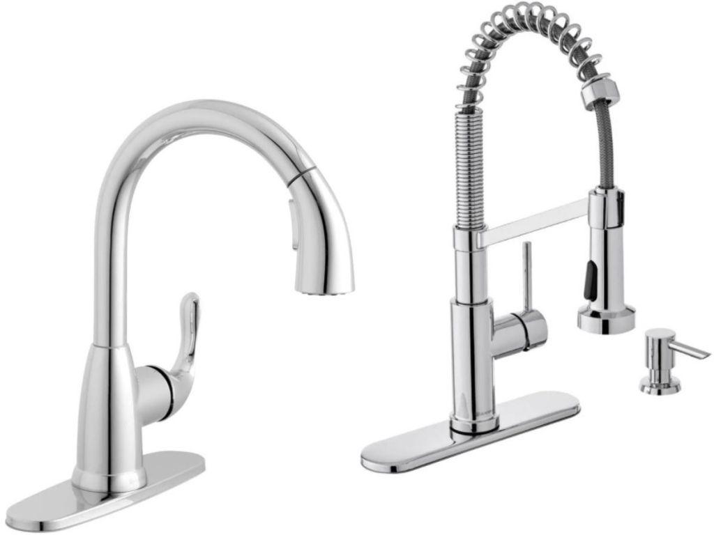 two Glacier Bay kitchen Faucet