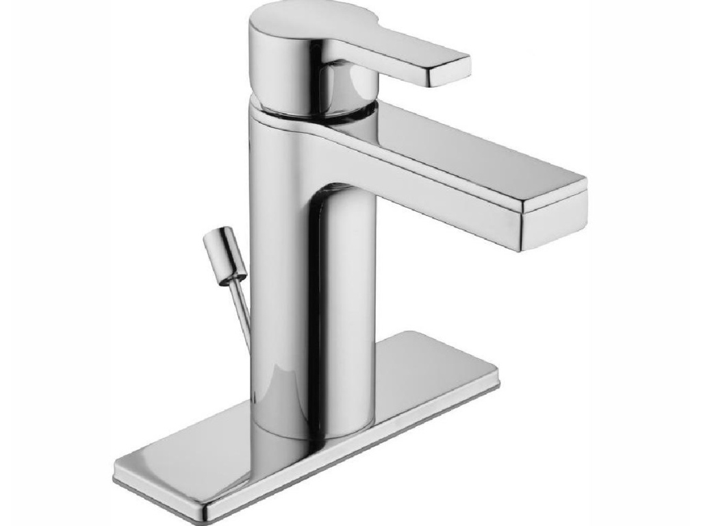 Glacier Bay Modern Contemporary Single Hole Single-Handle Low-Arc Bathroom Faucet in Chrome