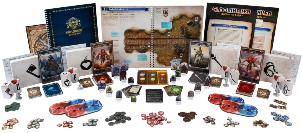 Gloomhaven brand board game with all the pieces