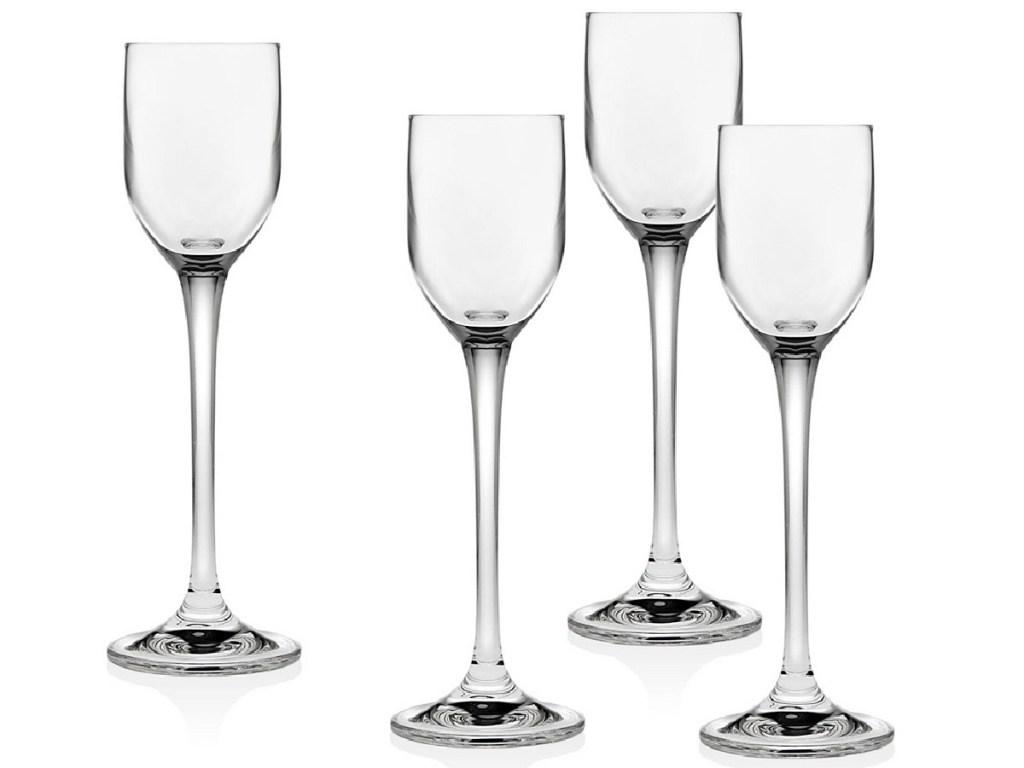 four liquor glasses