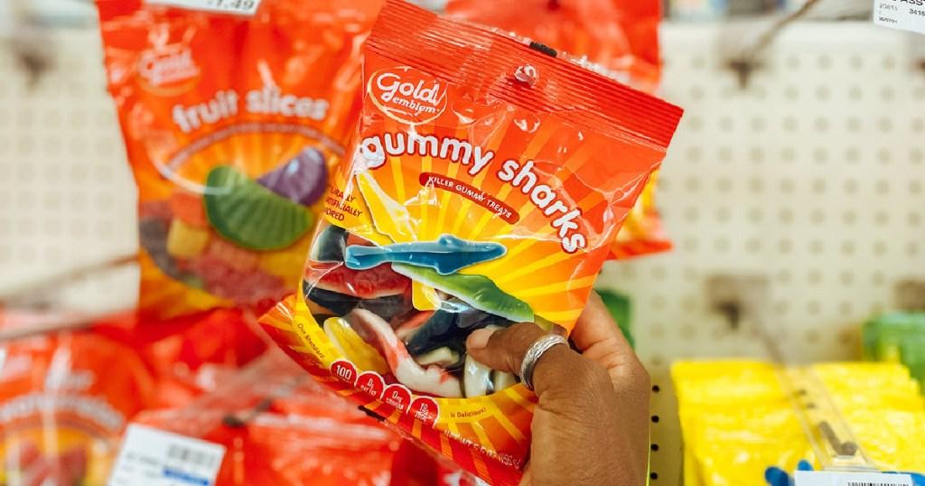 Gold Emblem Gummy Sharks