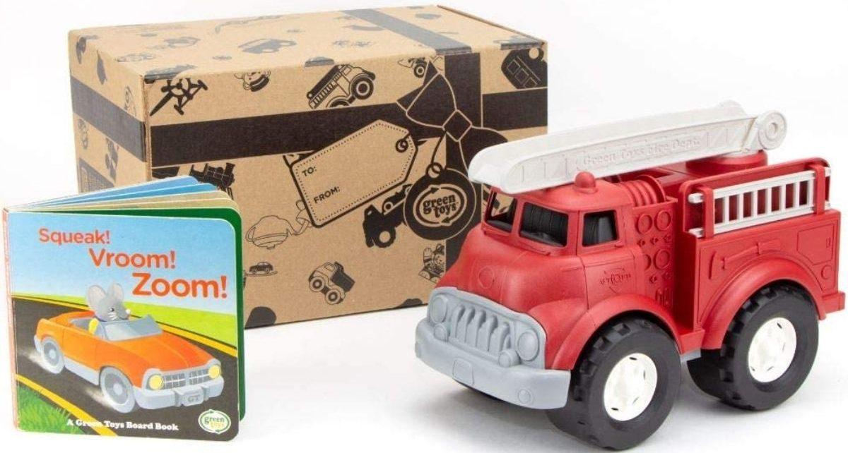 Green Toys Fire Truck w Board Book