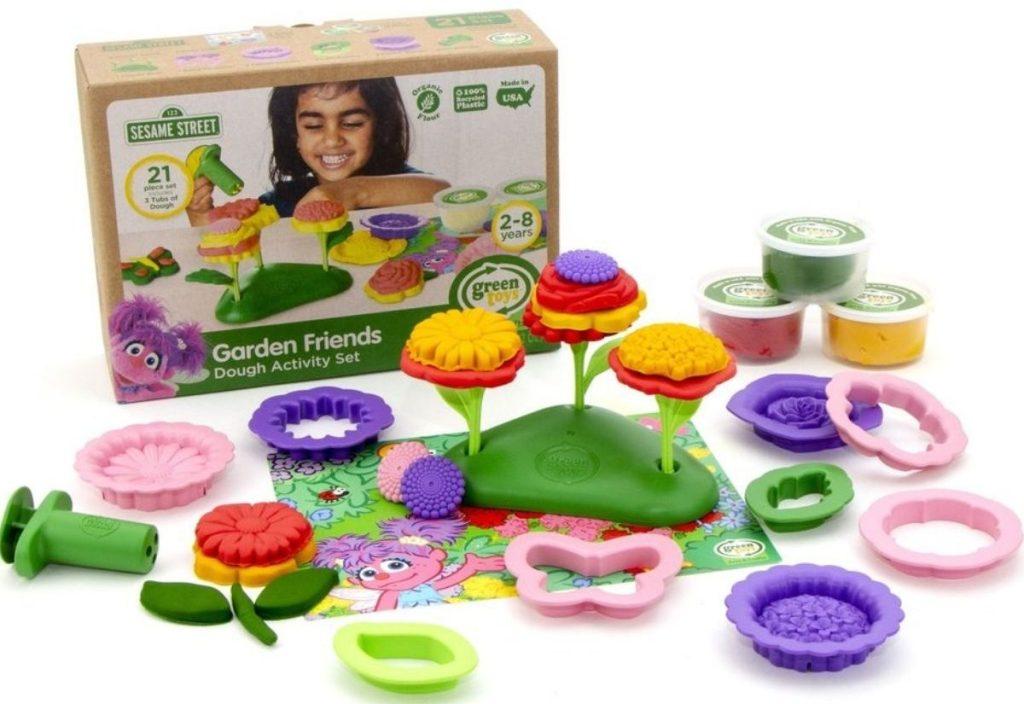 Green Toys Sesame Street Garden Friends Dough Activity Set