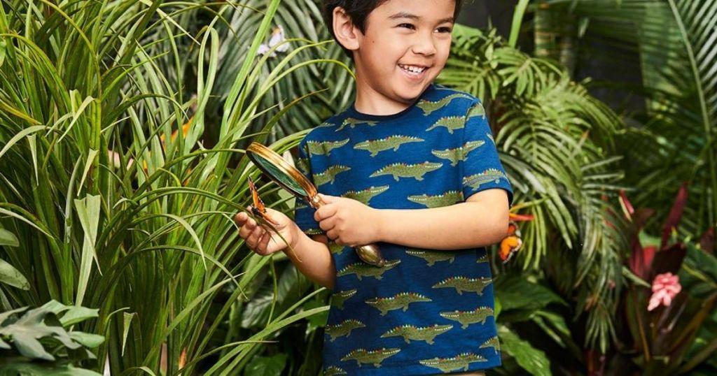 Little boy wearing gymboree clothes