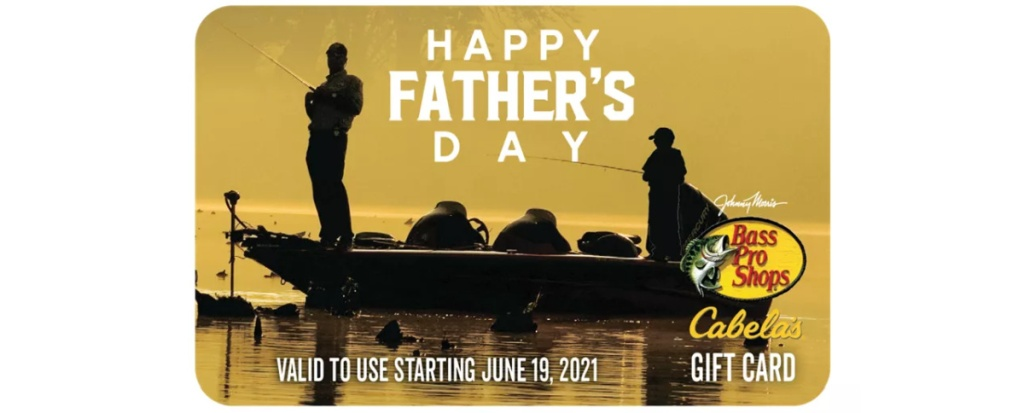 Father's Day themed Cabela's Gift Card