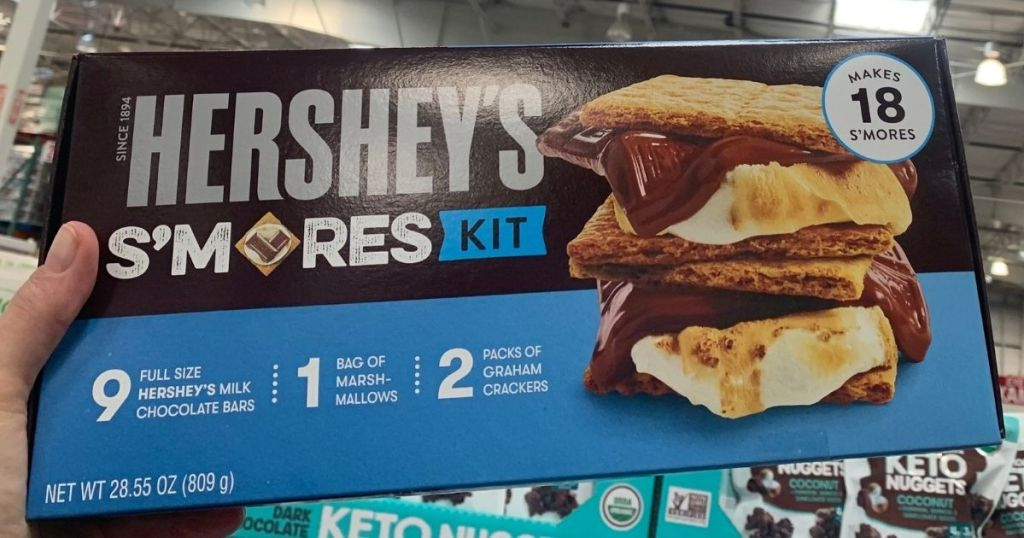 hand holding a Hershey's S'mores Kit