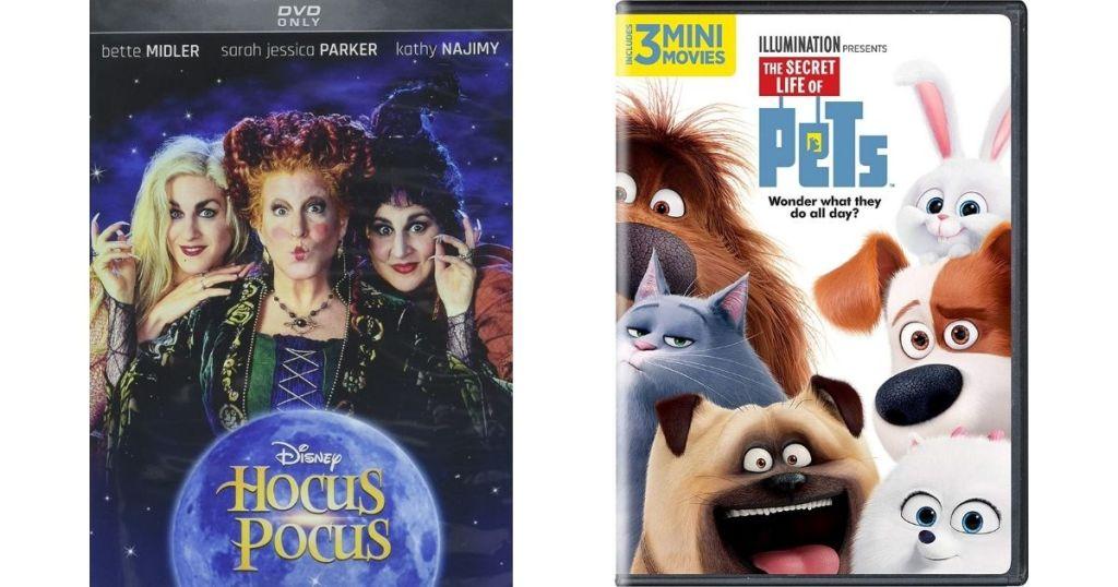 Hocus Pocus and Secret Life of Pets movies