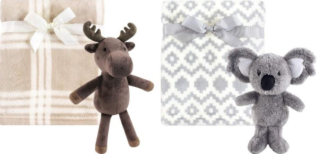 Hudson Baby Blanket and Moose or Koala toys