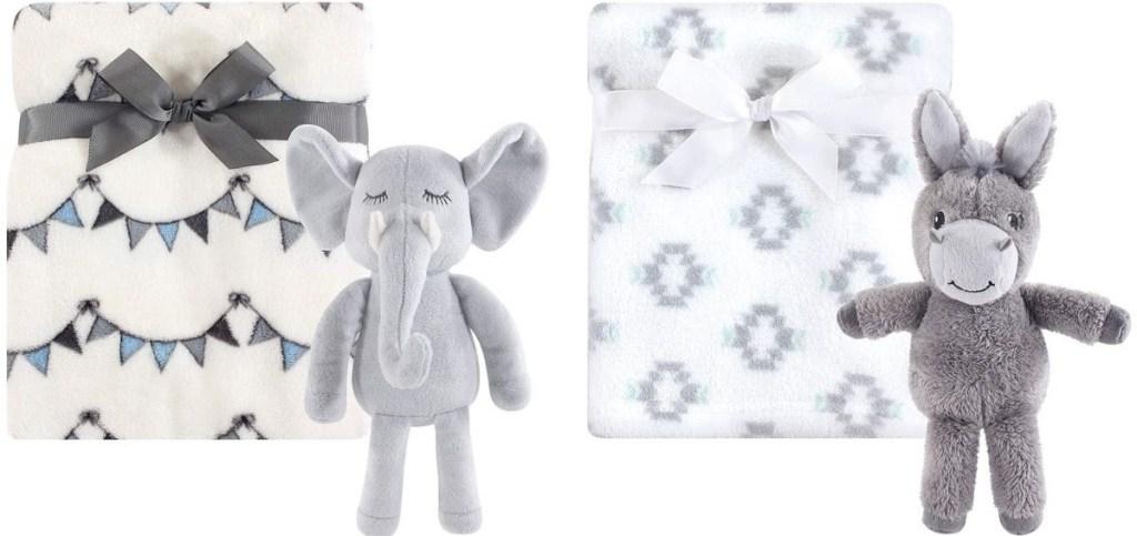 Hudson Baby Blanket with Elephant or Donkey