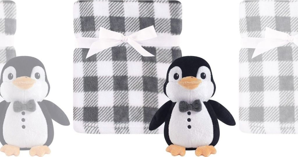 Hudson Baby Blanket with Penguin