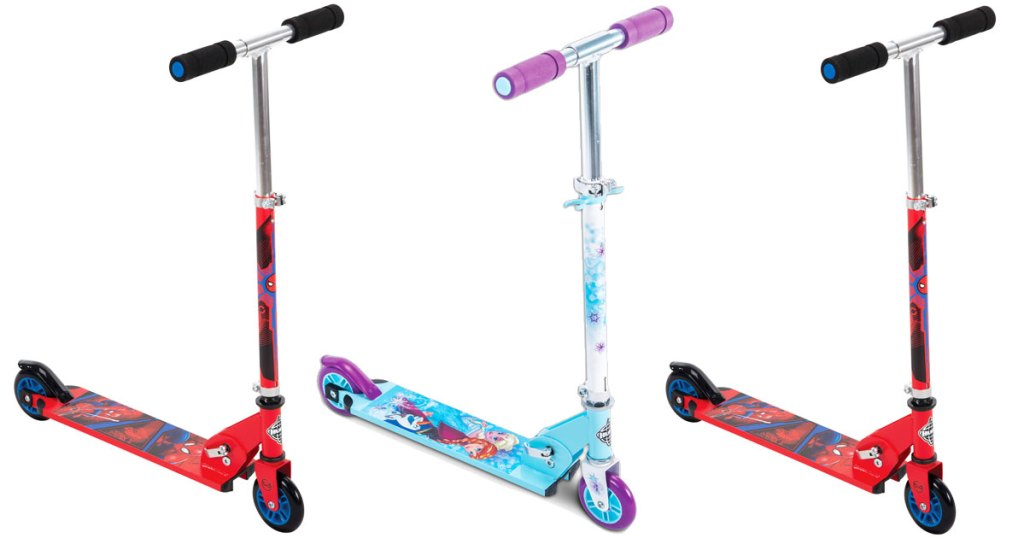 three kids scooters