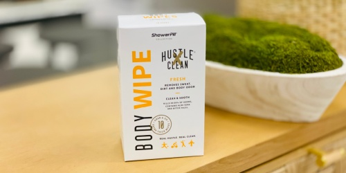 Hustle Clean Body Wipes 10-Count Just $5.99 at Target (Regularly $10) | In-Store & Online