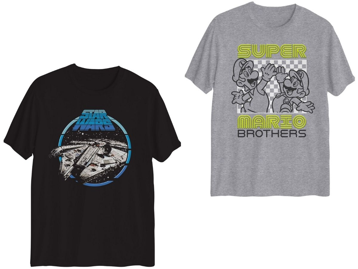 two boys graphic t-shirts