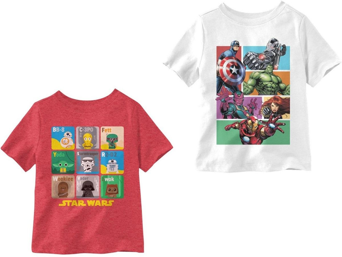 two little boys graphic t-shirts