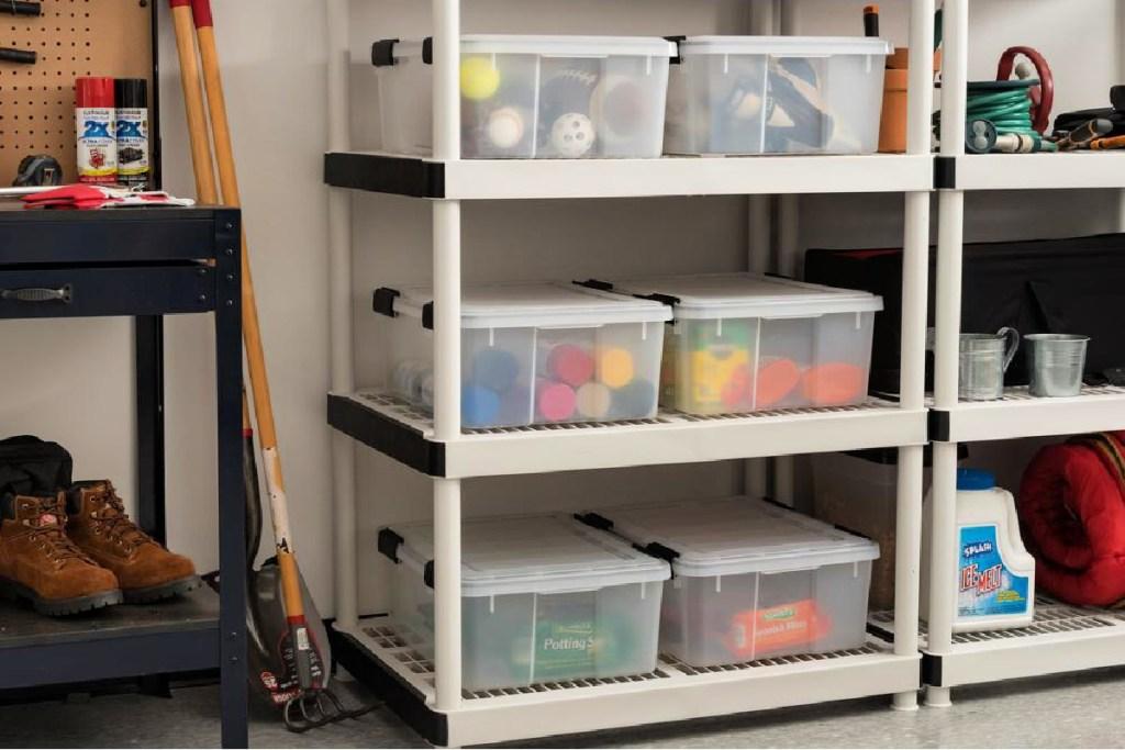 IRIS 30qt Weathertight Storage Box in Clear