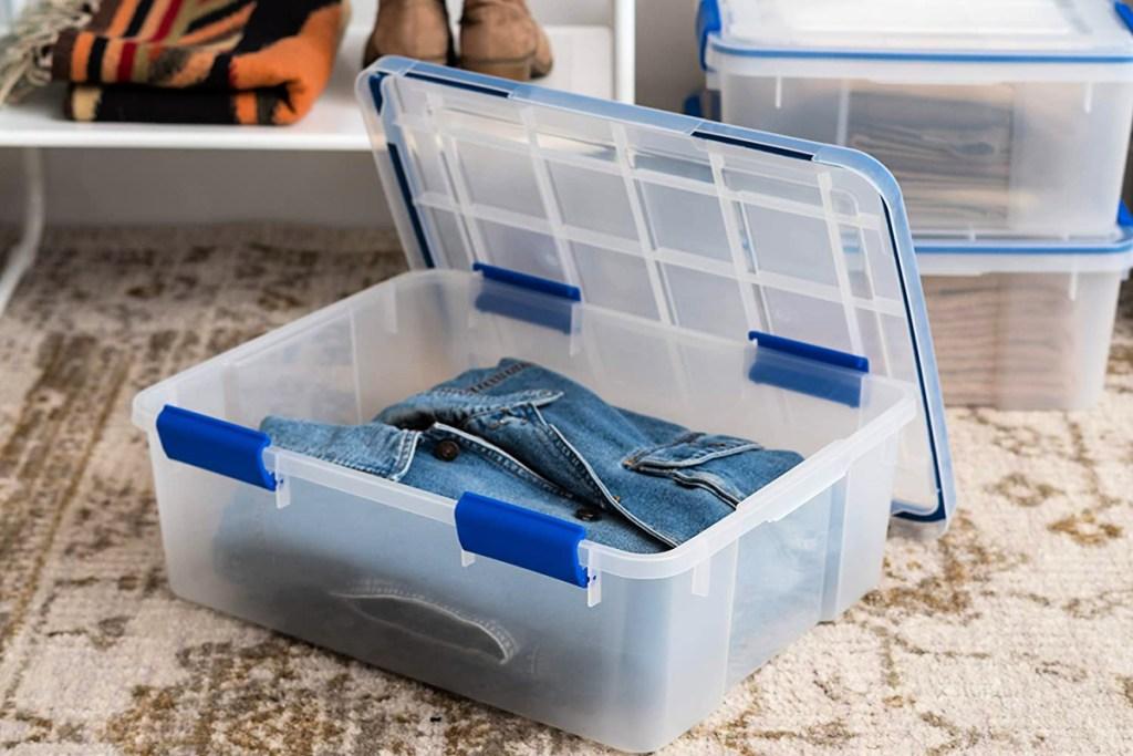 IRIS 4-Pack Weathertight 26.5qt Multi-Purpose Storage Box