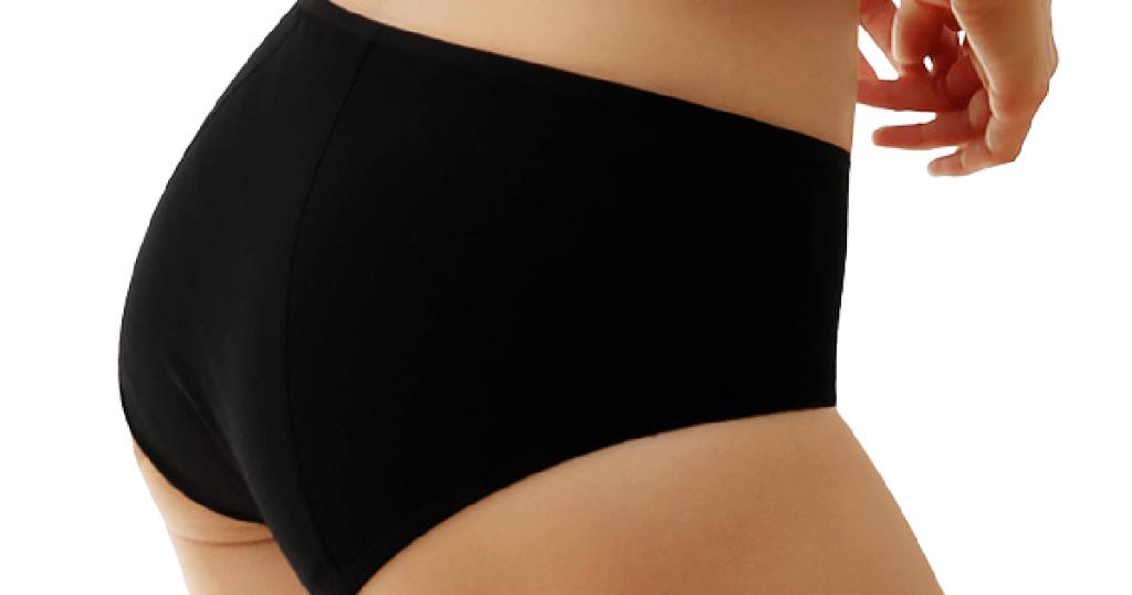 Innersy Hipster Period Panties in Black
