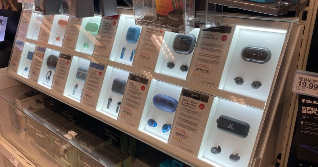 headphones on display