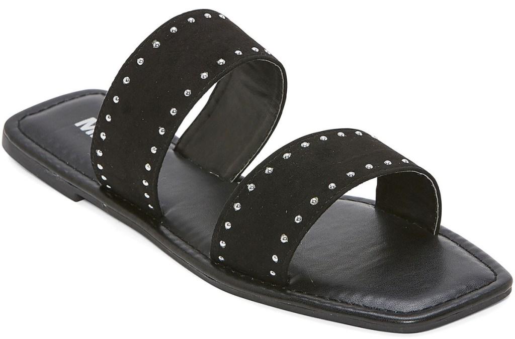 black stud slide sandals