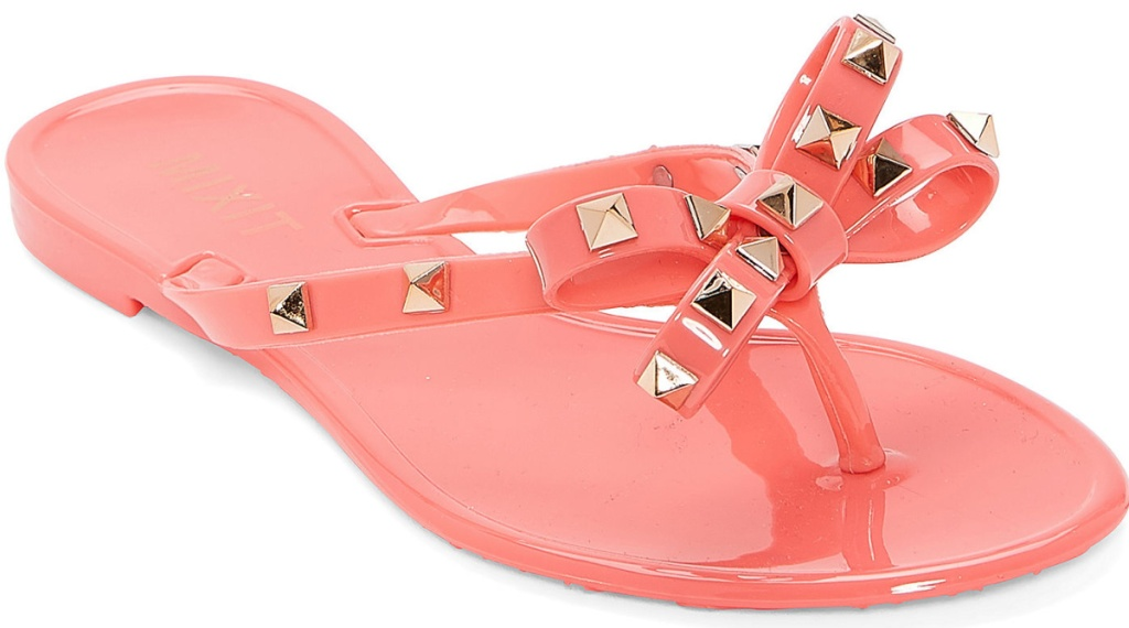 pink studded sandals