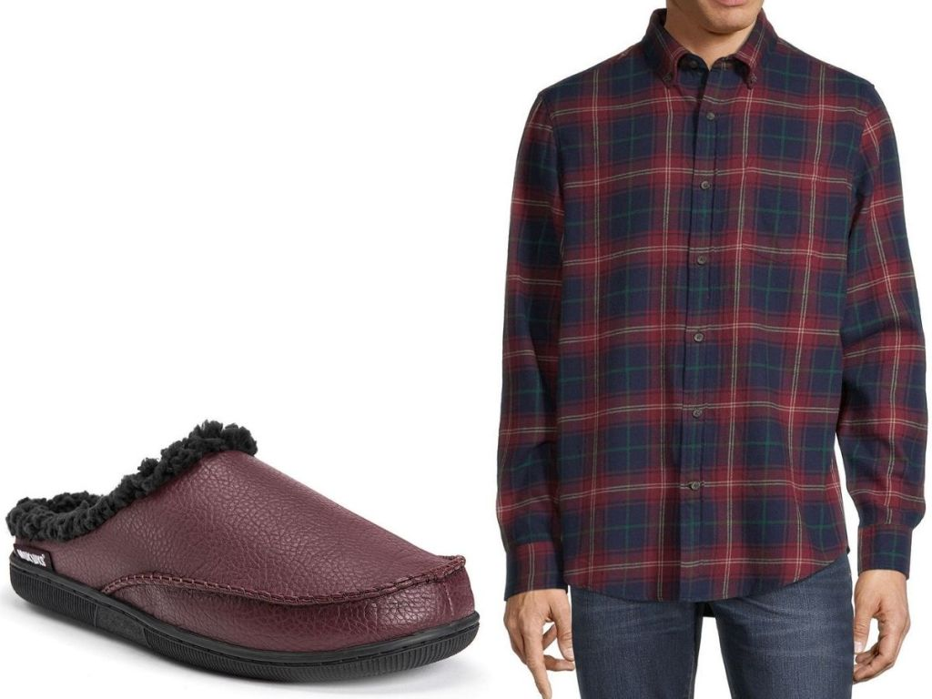 JCPenney Men's Shirt and slippers