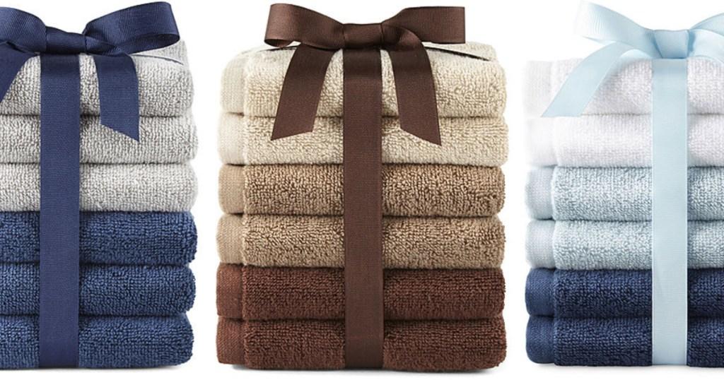 6-piece wash cloth sets