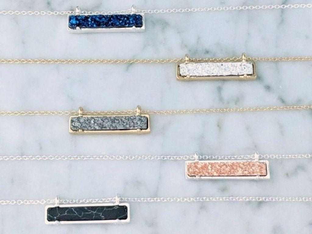 square stone necklaces