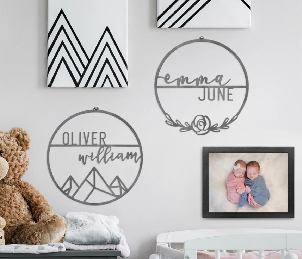 two personalized kids signs